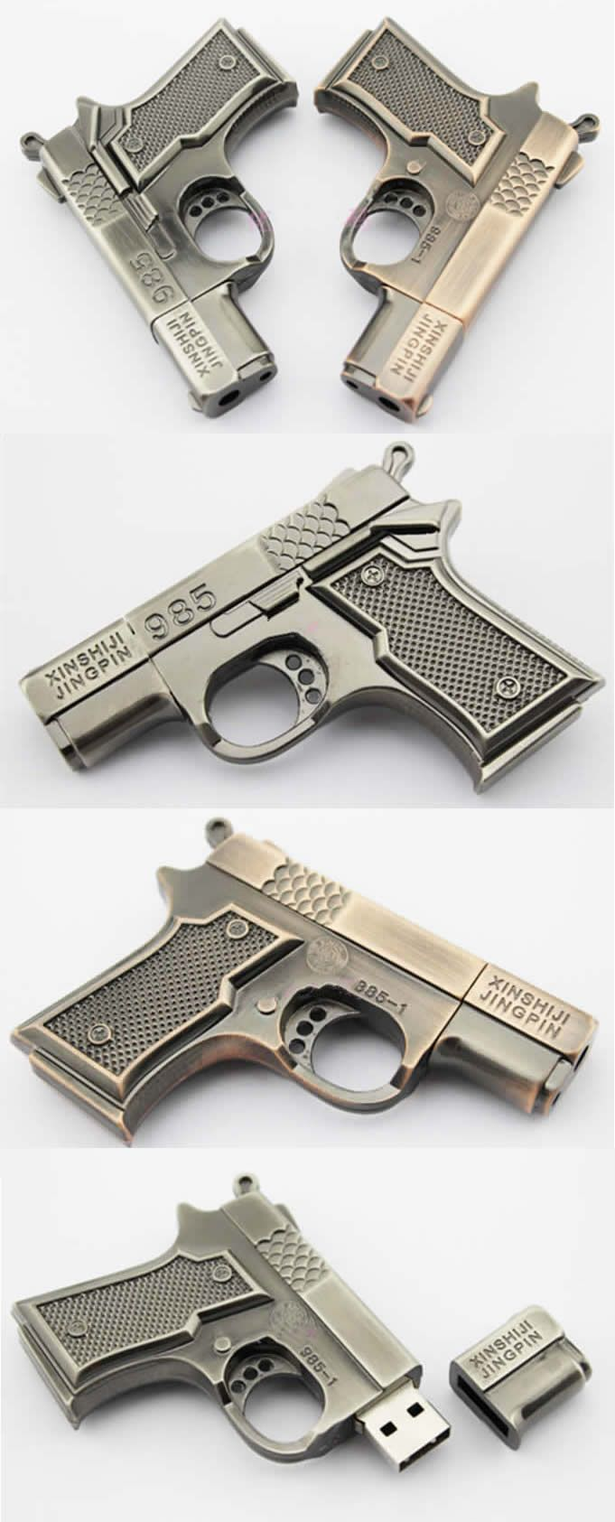 Gun USB Flash Memory Drive