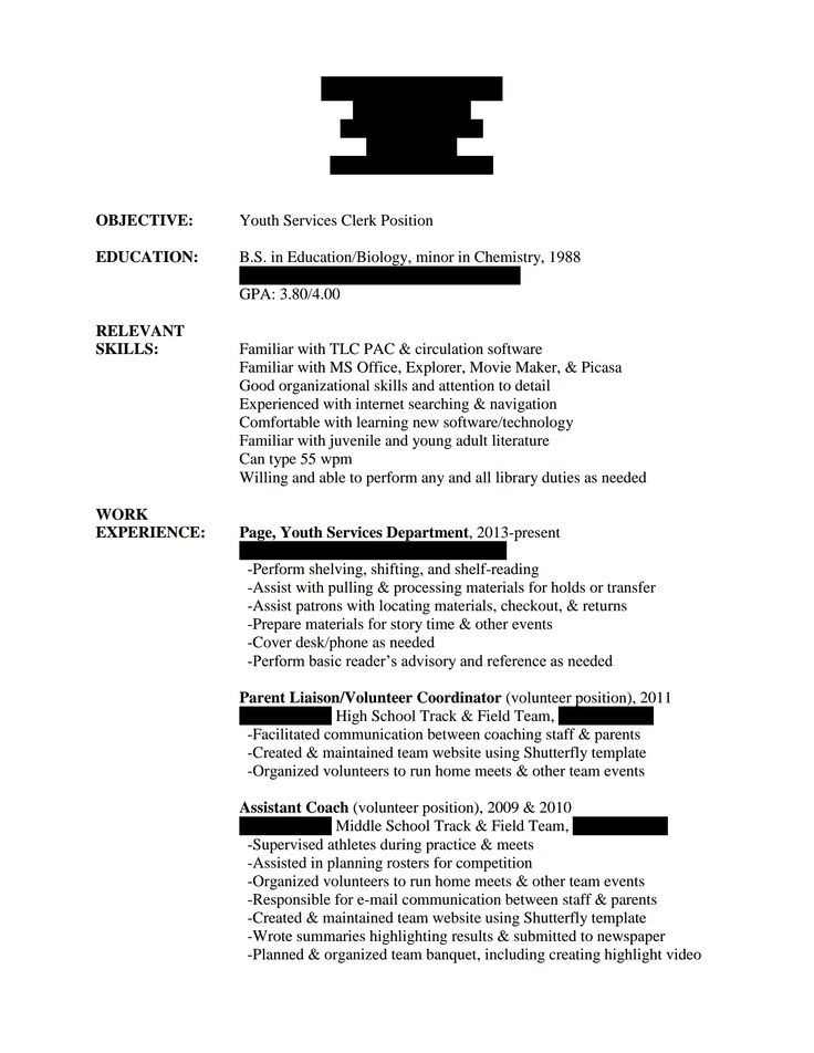 Example Of Stay At Home Mom Resume  Template