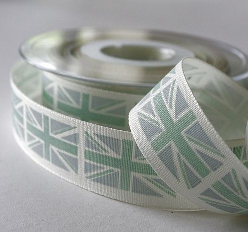 Royal Jubilee Union Jack Ribbon.  Craft, wrapping, sewing, decor: Ribbons Crafts, British Union, Jack Ribbons, 10M Rolls, Ribbons 10M, Jack O'Connel, Royals Union, Ribbons Rolls, Union Jack