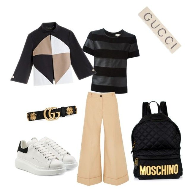 """""""Friday"""" by madisonkiss on Polyvore featuring MICHAEL Michael Kors, Khaite, Alexander McQueen, Moschino and Gucci"""