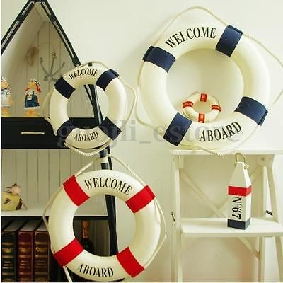 20cm Lifebuoy decoration Nautical wall hanging ornament Beach home decoration