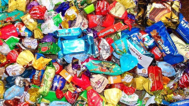 Новогодний подарок от Деда Мороза//Много конфет||Christmas gift from San...