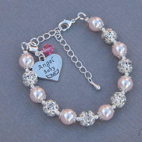 Personalised Angel Baby Jewelry Angel Baby Memorial by AMIdesigns