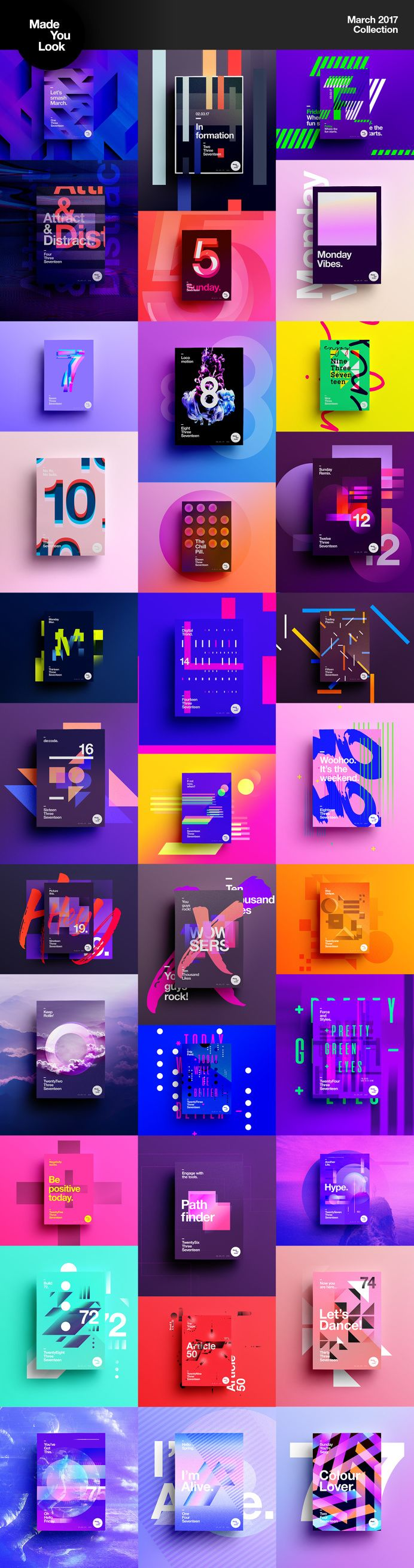 Made You Look   Poster Collection 2017 on Behance