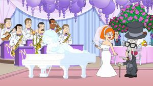 Roger as his richest persona 'Max Jets' about to marry a gold digger. American Dad! season 9, episode 11 (2013).
