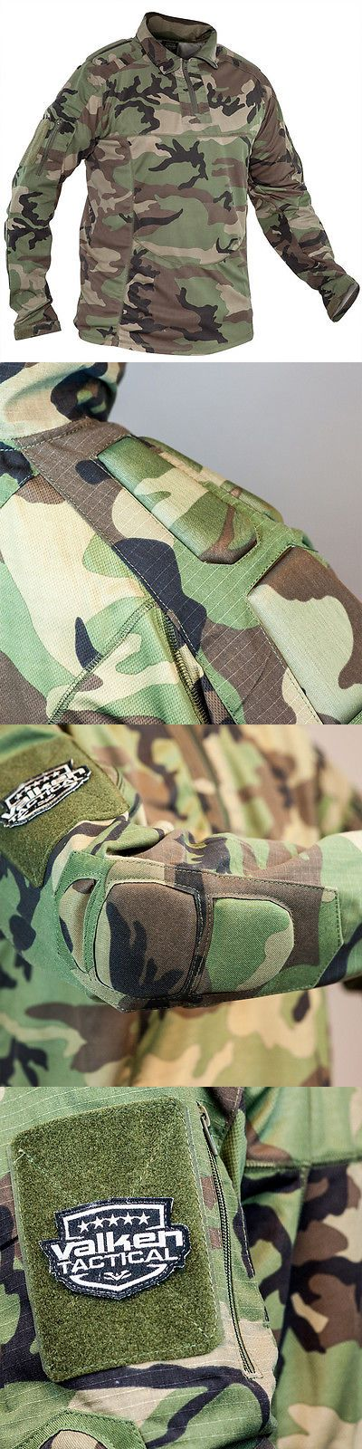 Jerseys and Shirts 165939: Valken Tango Combat Shirt - Woodland -> BUY IT NOW ONLY: $74.95 on eBay!
