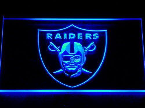 143 Oakland Raiders Football Bar Bière LED Néon Signe avec On/Off 7 Couleurs à choisir