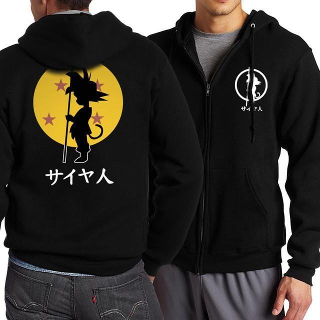 New Arrival Anime Dragon Ball Z Goku Zip Up Hoodies Men 2017 Spring Autumn Men Jacekt Sweatshirts Fashion Slim Fit Coat For Fans