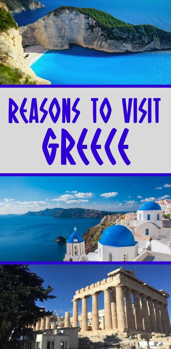 Great food, perfect beaches, ancient ruins, it's super-safe... How many more reasons do you need to visit Greece?! #Greece #vacationtips