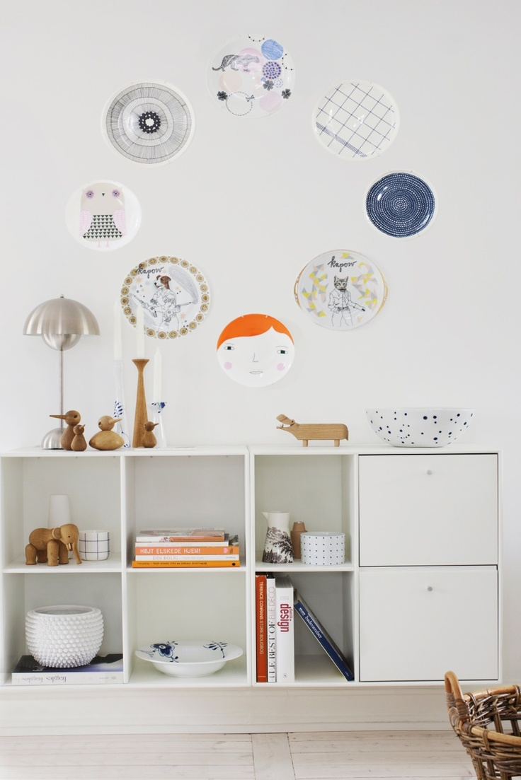 From Ellens album  Styling Rikke Graff Juel  Photo: Frederikke Heiberg: Dining Rooms, Ceramics Plates, Wooden Animal, Interiors Design, Plates Display, Kids Art, Plates Wall, Donnawilson, Kids Rooms