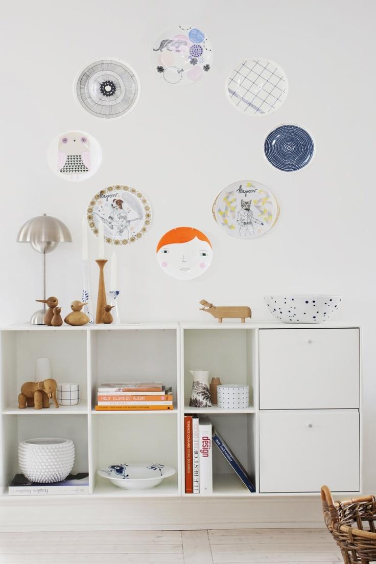 Donna Wilson Meg & Owl plates.  Styling Rikke Graff Juel  Photo: Frederikke Heiberg