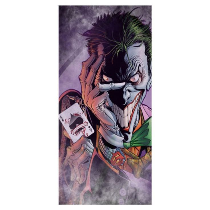Hot Sale!Batman Funny Joker Background Printed Soft Bamboo Fiber Sport Drying Washcloth&Bath Towels for Adults_Size:35CMX70CM