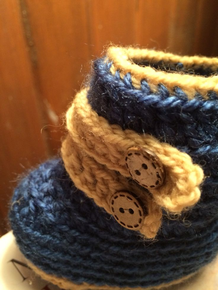 Crochet baby bootie by maureen robeson