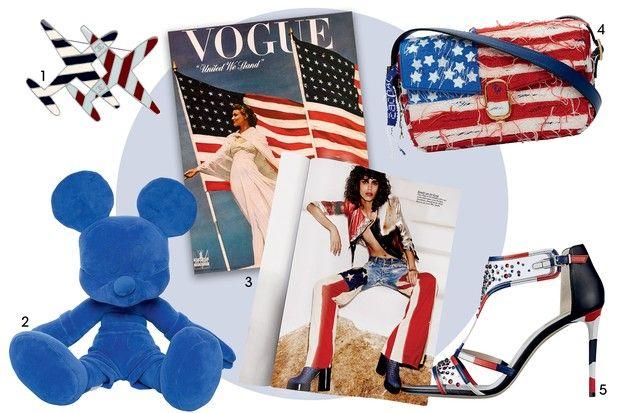 Listras, estrelas e cores da bandeira americana migram para a moda