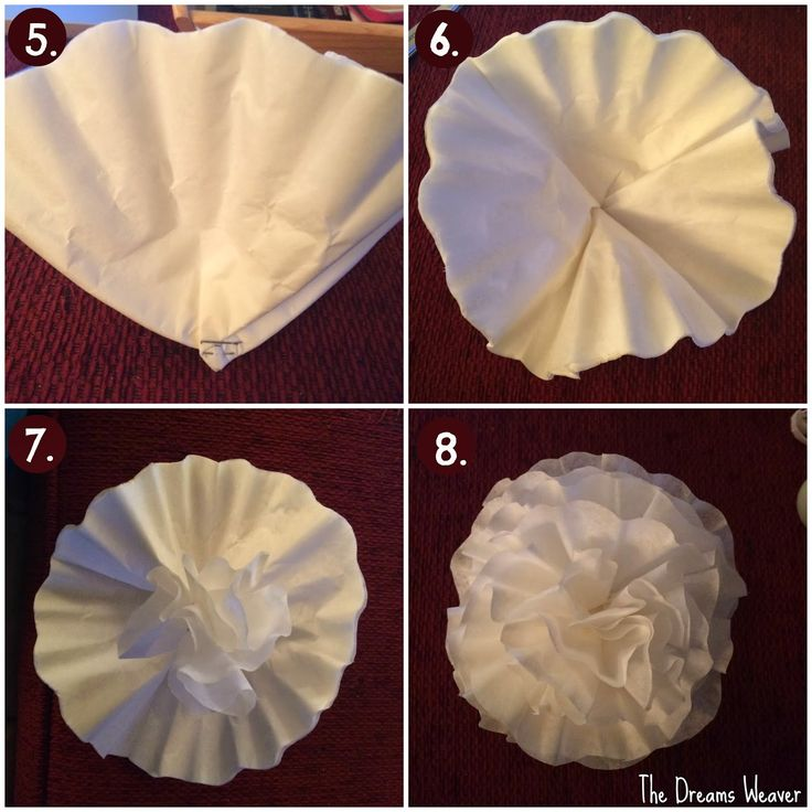 Coffee Filter Wreath Spring