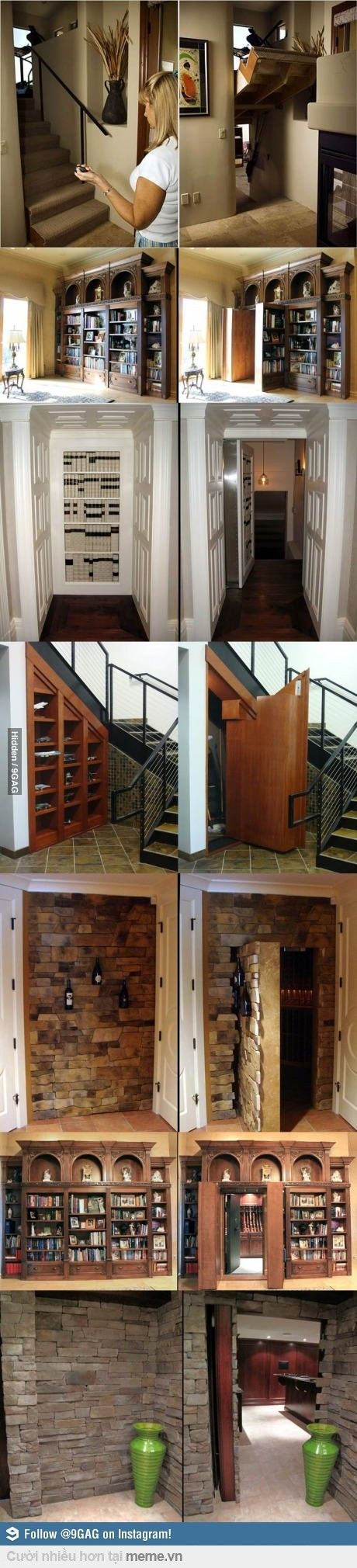 I'd love to have an house with some secret passages