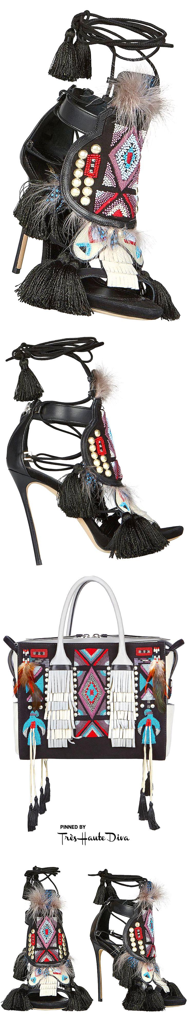 ♔Très Haute Diva♔ Dsquared2 Twin Peaks Medium Handbag and Eskimo Chic Sandals