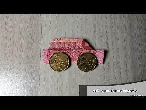 Geldgeschenke basteln: Auto z.B. zum Geburtstag & Führerschein - YouTube