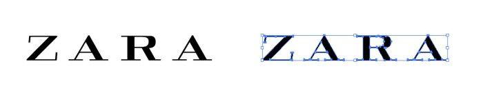 ザラ(ZARA)のロゴマーク