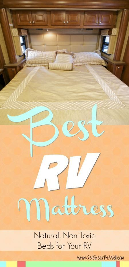 RV traveling? Sleep better on a non-toxic mattress with these great finds. Healthy replacement mattress options for your factory RV mattress. Super comfortable and supportive beds made of non-toxic materials.