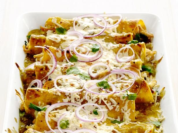 A store-bought rotisserie chicken makes these cheesy Enchiladas quick and easy.
