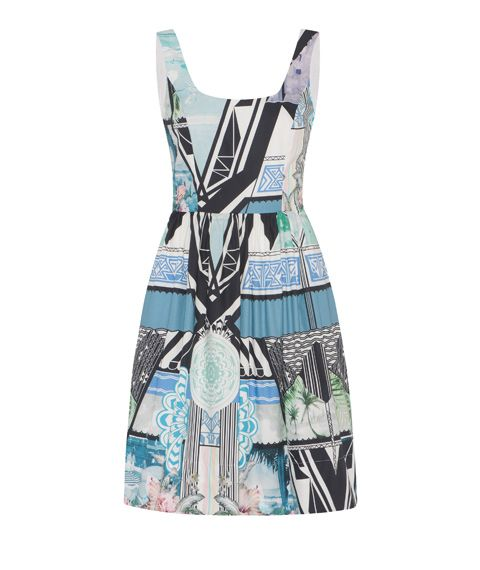 Geometric Floral Print Dress by Cue