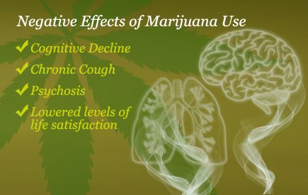 the negative effects of marijuana on The negative physical, psychological, and social effects of marijuana are numerous while most individuals with marijuana abuse or dependence are treated on an outpatient basis, admission to both outpatient and inpatient treatment programs for marijuana addiction has increased over the years.