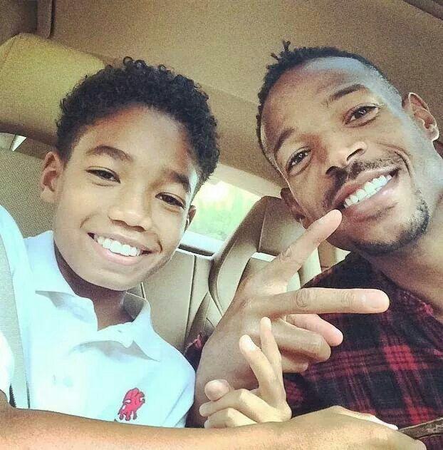Marlon Wayans and son...