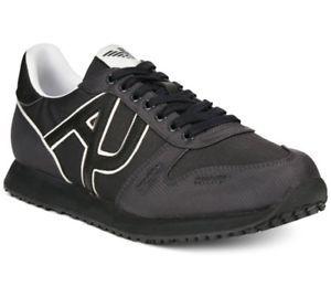 Картинки по запросу Armani Jeans AJ Shoes Casual Sneakers Trainers Tennis Black BM506