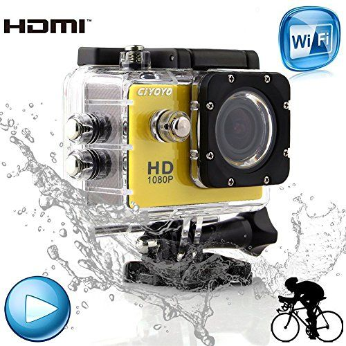 (SJ4000 Smart WIFI Vesion) Smart WIFI Waterproof Helmet Sports DV Car Recorder Diving Bicycle Action Camera Outdoor HD VCR/CAR DVR/Camera G-Senor Motorbike Camcorder 1.5″TFT 12.0MP 1080P for IOS iphone Android phone 4/5s/5c/6 Samsung Note2/3/4 S2/S3/S4/S5 HTC(Yellow)