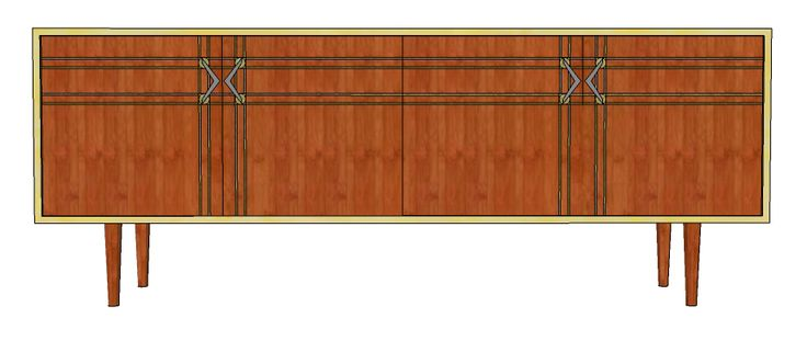 Four door sideboard, comes with three draws, with an option of what door you would like the draws to be behind.