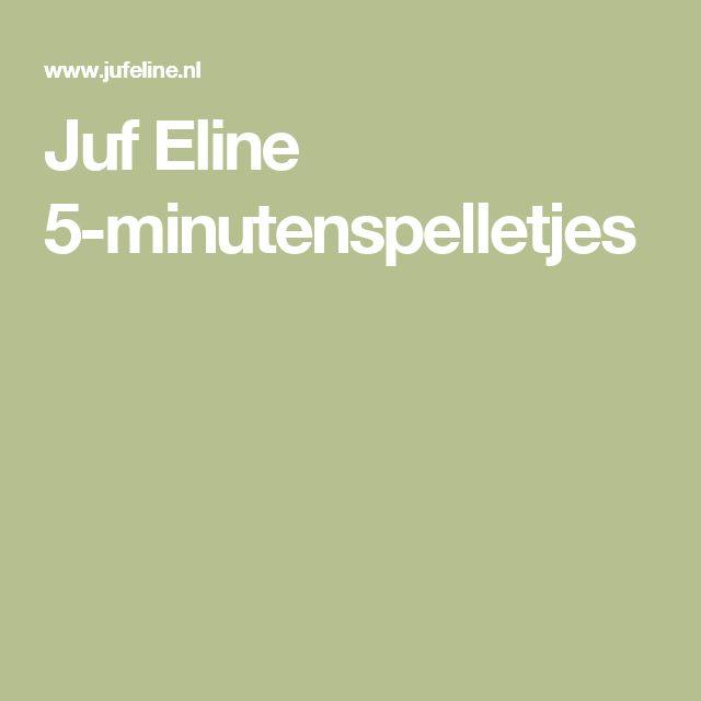 Juf Eline 5-minutenspelletjes