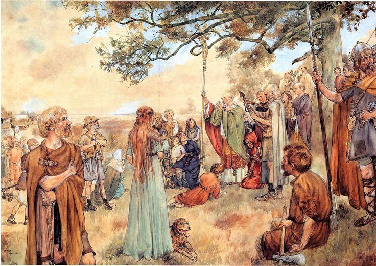 Citaten Uit De Middeleeuwen : Ludger predikt in de groninger gouwen schoolplaten