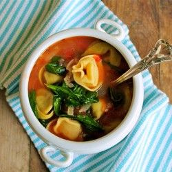 Tortellini Soup added some sausage to the recipe it was great.