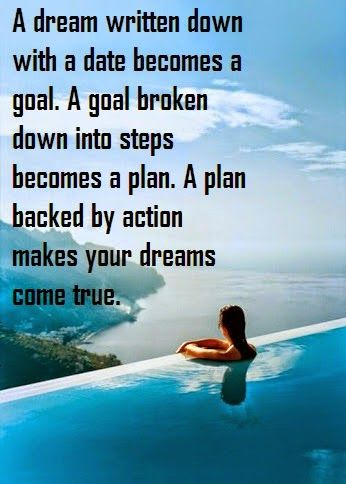Quotes and Sayings: How Your Dreams Come True.