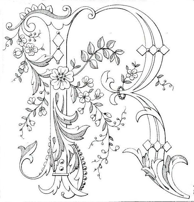 It is a picture of Zany Calligraphy Coloring Pages