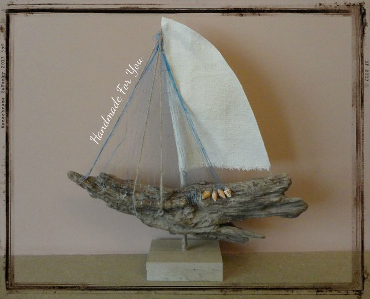 Nautical decor made from driftwood. Driftwood sailboat, Nautical Ocean Decor, διακοσμητικό καραβάκι απο θαλασσόξυλο.