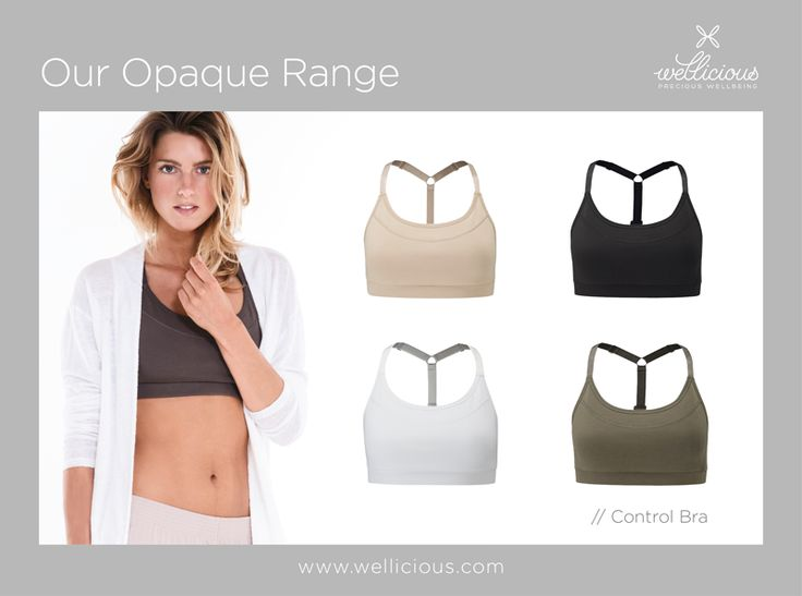 "OPAQUE!  We offer a whole range of Opaque eco-friendly pieces made from 90% Organic Cotton. The styles will keep you completely secure in every pose and allow you to focus only on your practice! ""heart""-Emoticon   Shop now our OPAQUE Control Bra now: www.wellicious.com/control-bra.html"