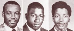 1968  February 8, 1968 · Orangeburg, South Carolina Samuel Ephesians Hammond Jr., Delano Herman Middleton and Henry Ezekial Smith were shot and killed by police who fired on student demonstrators at the South Carolina State College campus.