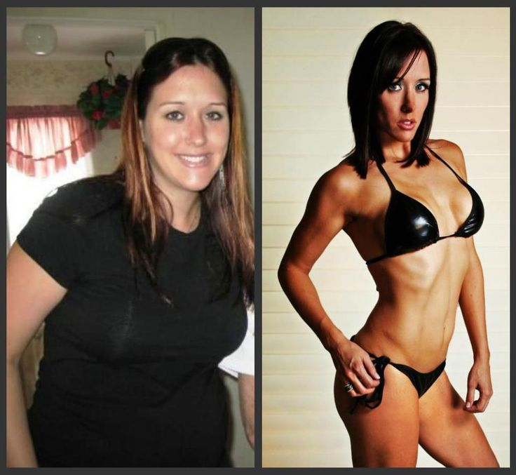 After Insanity ; P90X....she's now a model!!