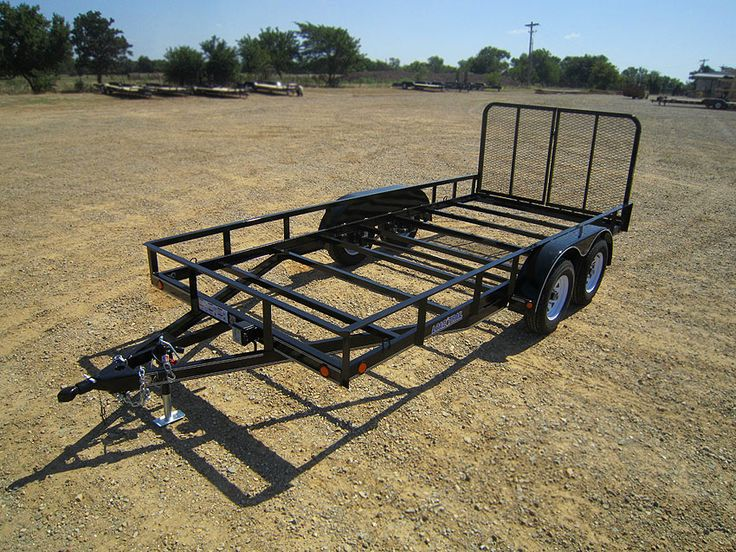 Tandem Axle Utility 7000 Lb w4 Channel Frame Load Trail