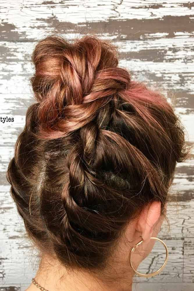 24 Easy And Fancy Ideas Of Wearing Hair Bun For Short Hair Short