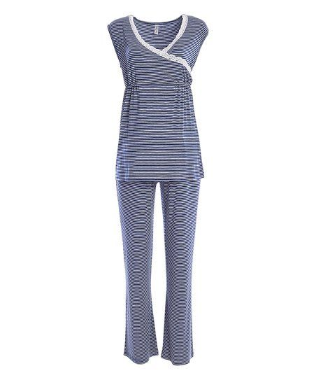 Lamaze Maternity Intimates Heather Glacier Surplice Maternity/Nursing Pajama Set | zulily