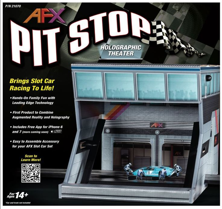 MegaHobby.com - Pit Stop Holographic Theater HO Scale AFX, $87.29 (https://www.megahobby.com/products/pit-stop-holographic-theater-ho-scale-afx.html)