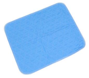 Wasbare onderlegger voor stoel of bed blauw