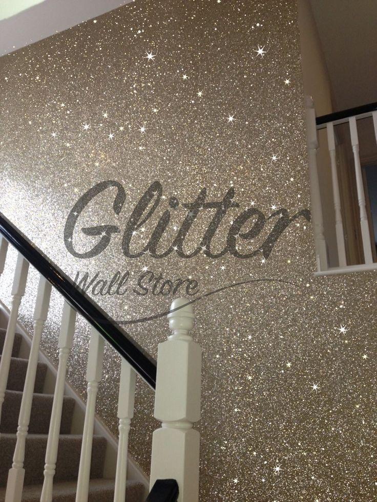gold glitter wallpaper hallway Glitter wallpaper bedroom