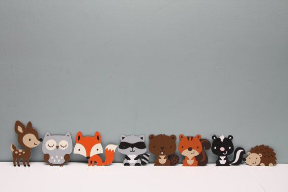This listing is for a set of your favorite woodland animals, all in one place! Set includes deer (4.25 tall), owl (3.25 tall), fox (3.25 tall),