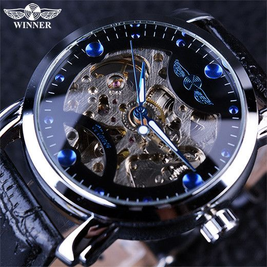 Blue Engraving Clock Men Leather Strap Mens Watches Sale! Up to 75% OFF! Shop at Stylizio for women's and men's designer handbags, luxury sunglasses, watches, jewelry, purses, wallets, clothes, underwear