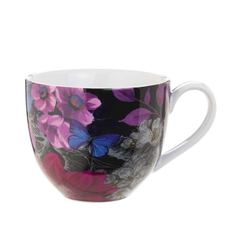 This floral-printed mug with deep blue and pink hues makes teatime even more indulgent. Priced at £3.50