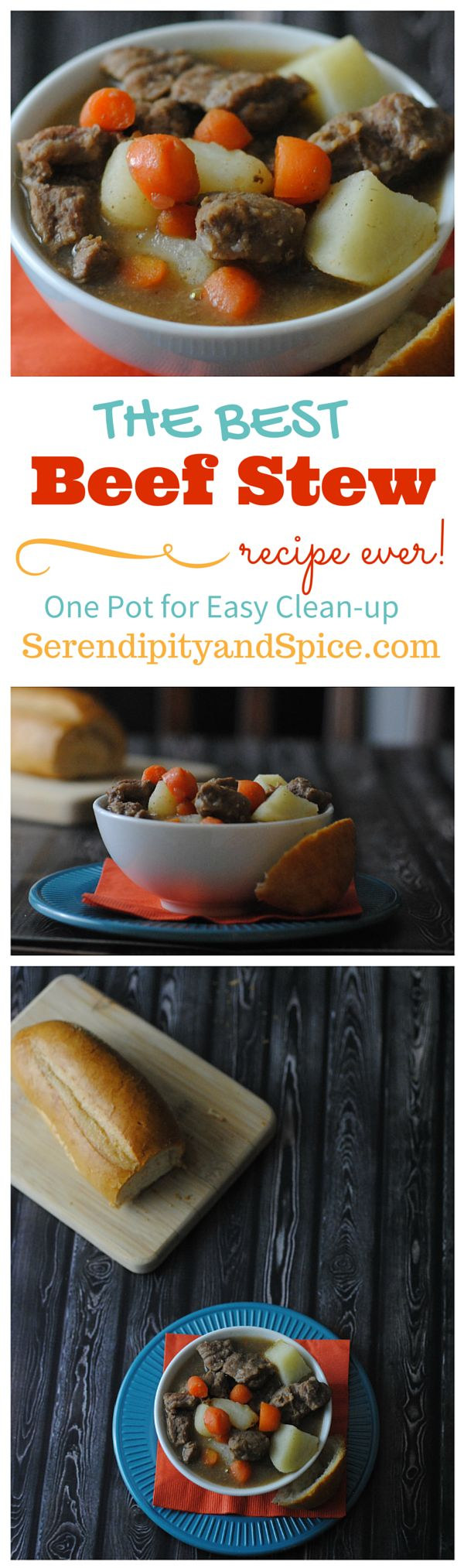 This one dish beef stew recipe is so easy and delicious....packed full of flavor and healthy veggies!